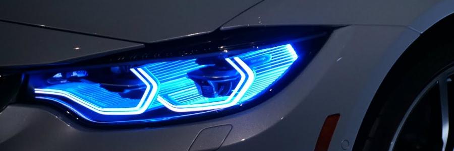 BMW revela faróis inteligentes laser OLED